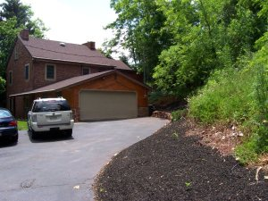 Driveway and 2-car Garage