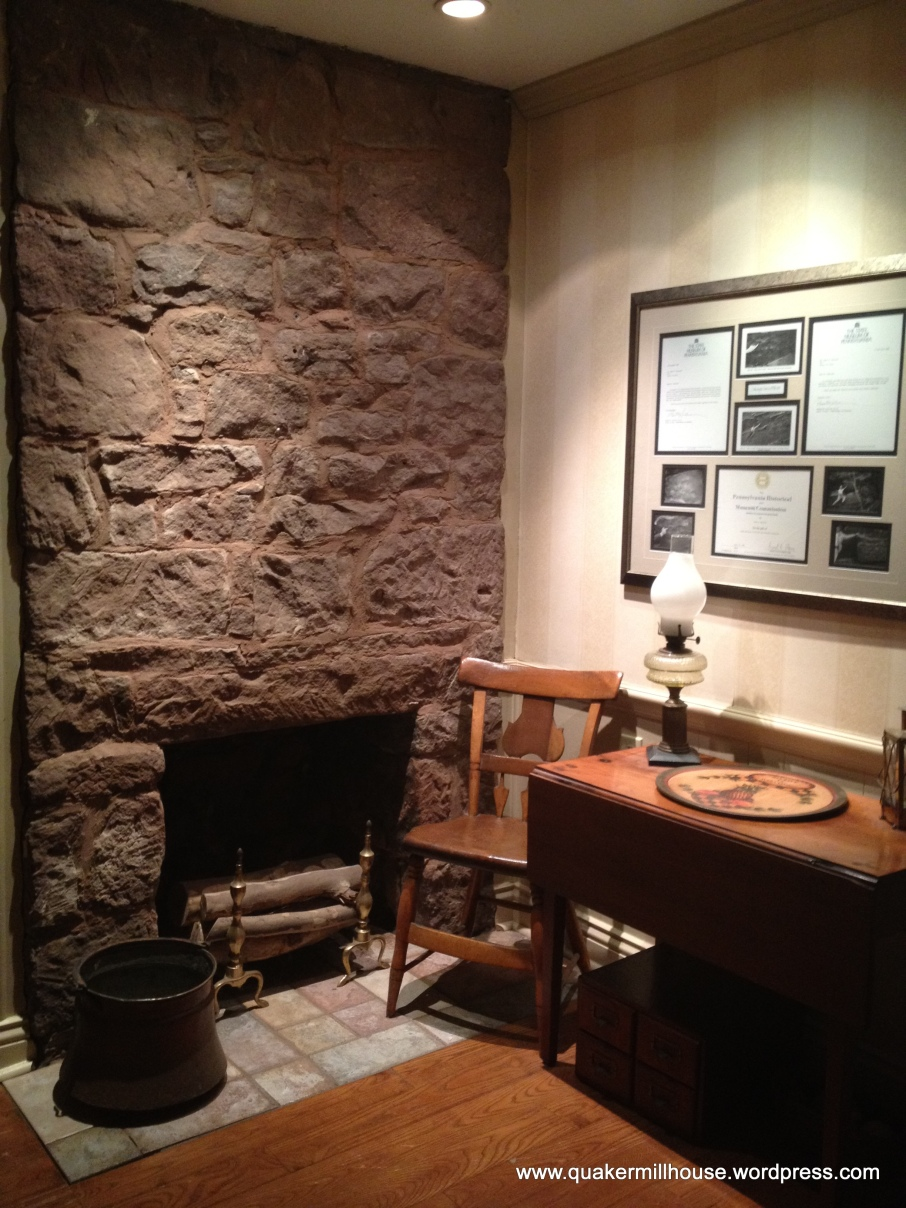 Stone Hearth in Foyer